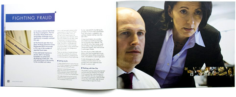 city of london police annual report inside spread