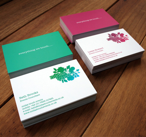 midas touch business cards
